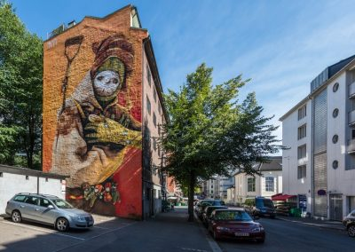 Graffiti de Inti en Oslo